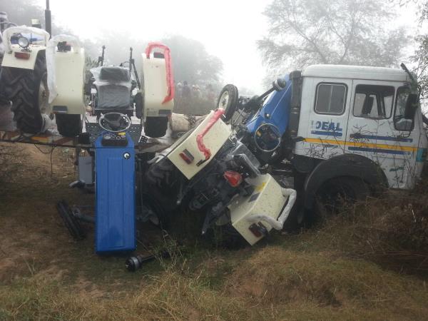 घने कोहरे का कहर, वाहन टकराने से 2 व्यक्ति गंभीर रूप से घायल