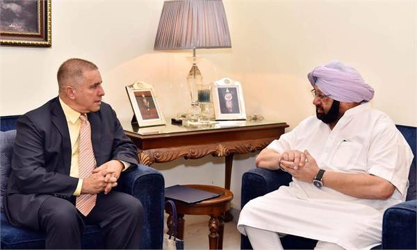 CM अमरेन्द्र सिंह से मिले राजदूत डेनियल कारमोन, तकनीक के आदान-प्रदान पर बनी सहमति