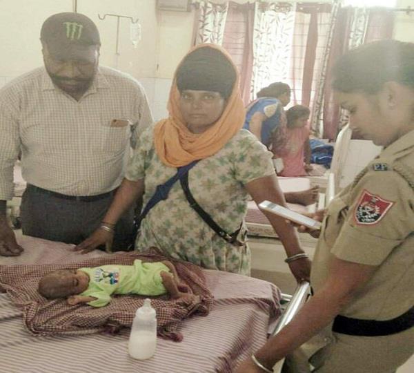 पुलिस ने पेश की मानवता की मिसाल, बच्ची का करवाया उपचार