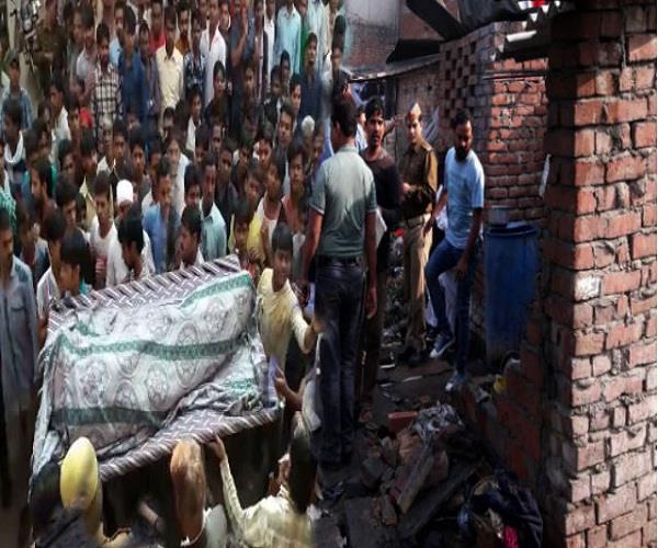 पटाखा कारोबारी के घर में मौत का एेसा मंजर, विस्फोट के बाद टुकड़ों में बंटा शव