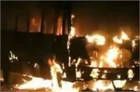 कोंचिंग से लौट रही छात्रा को बस ने कुचला, गुस्साए लोगों ने 4 बसों को लगाई आग
