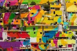 मेक्सिको का कलरफुल गांव, देखिए तस्वीरें