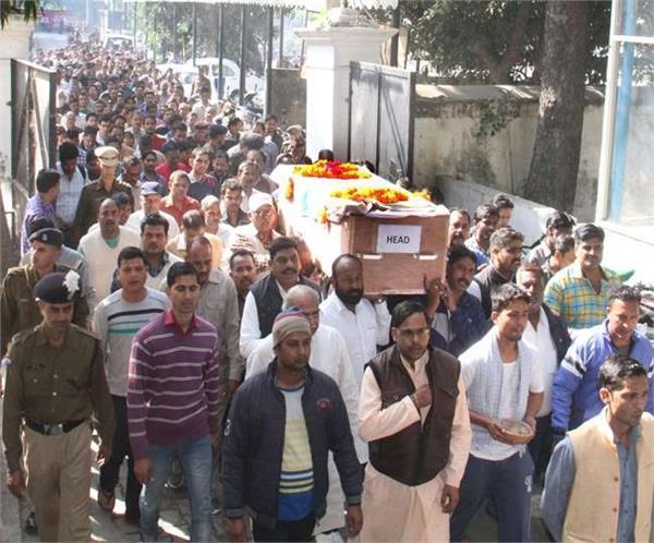 शहीद मनोज कुशवाहा और शशांक सिंह की विदाई में नम हुई आंखें