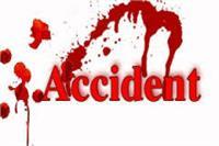 सड़क दुर्घटना में स्थानीय कांग्रेस नेता सहित 2 की मौत