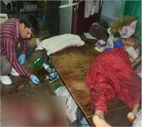 इलाहाबाद में एक ही परिवार के 5 सदस्यों की हत्या, महिला की हालत गंभीर (Pics)