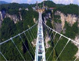 तस्वीरों में देखें, दुनिया सबसे बड़ा शीशे का पुल