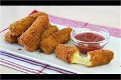 स्नैक्स में खाएं टेस्टी और क्रिस्पी Cheese Mozzarella Sticks