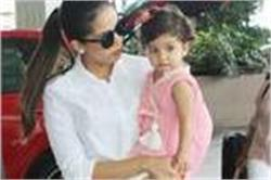 एयरपोर्ट पर बेटी मीशा के साथ स्पॉट हुई Mira Rajput