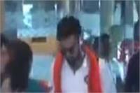 दीपमाला व भगवा गमछे से हुआ भारत-न्यूजीलैंड के क्रिकेट खिलाडिय़ों का इस्तकबाल