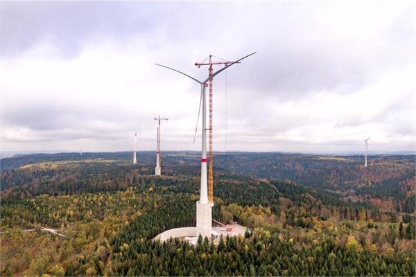 जर्मनी में बननी शुरू हुई दुनिया की सबसे ऊंची WIND TURBINE