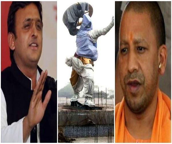 राजनीति में छाए राम और कृष्ण, योगी से पहले अखिलेश लगवाएंगे कृष्ण की 51 फीट ऊंची प्रतिमा