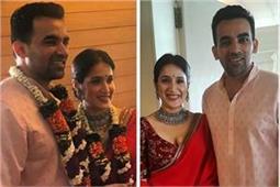सगारिका घाटगे ने जहीर खान से की शादी, देखे तस्वीरें