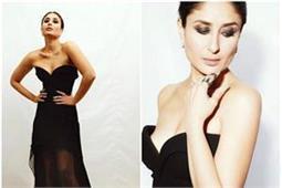 Black Gown में करीना ने बिखेरी अपनी सैक्सी अदाएं