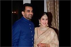 Wedding reception! डिजाइनर ड्रैस में दिखें सागरिका और जहीर खान