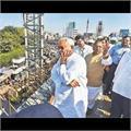 CM ने की फ्लाई ओवर की जांच, अधिकारियों से विस्तार में ली निर्माण संबंधी जानकारी