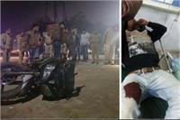 पुलिस मुठभेड़ के दौरान एक बदमाश को लगी गोली, सिपाही घायल
