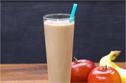 Apple Banana Ice Cream Milkshake