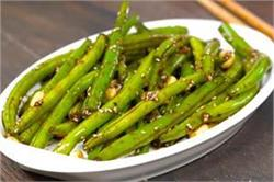 Green Beans With Sesame Seeds and Garlic