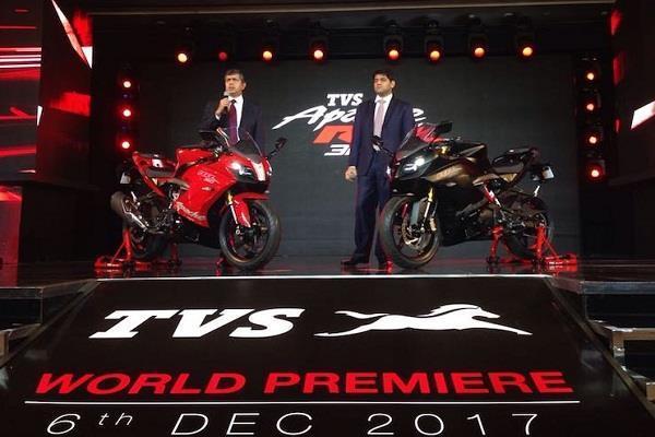 इंतजार हुअा खत्मः भारत में लांच हुई TVS Apache RR 310
