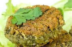 Palak Chole Tikki (Spinach Chickpea Cutlet)