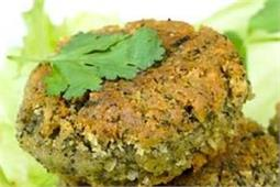 Palak Chole Tikki (Spinach Chickpea Cutlet)
