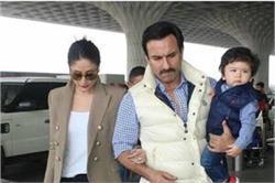 तैमूर के बर्थ डे सेलिब्रेशन के लिए रवाना हुए Saif-Kareena, एयरपोर्ट पर हुए स्पॉट