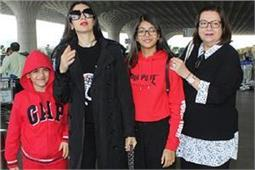 तैमूर के बर्थडे सेलिब्रेशन के लिए करिश्मा भी फैमिली के साथ हुई रवाना, एयरपोर्ट पर हुए स्पॉट