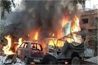 आगरा के थाना परिसर में लगी आग, जल गए दर्जन से ज्यादा वाहन