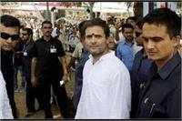 अमेठीः राहुल गांधी की सभा में बीजेपी-कांग्रेसी कार्यकर्ता भिड़े, पुलिस ने किया लाठीचार्ज