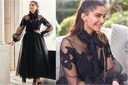 ब्लेक ड्रैस पहन इवेंट में पहुंची Sonam Kapoor, देखिए खूबसूरत तस्वीरें