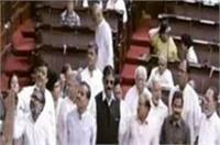 EVM पर राज्यसभा में जोरदार हंगामा, मायावती के समर्थन में आई सपा-कांग्रेस