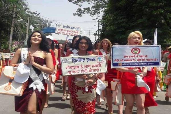 बहादुरगढ़ की सड़को पर उतरी 34 देशों की सुपरमॉडलस, लोगों को दिया ये संदेश