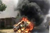 सहारनपुर में दलित महापंचायत को लेकर बवाल, कई वाहनों को किया आग के हवाले