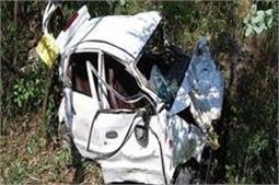 मुजफ्फरनगरः ओवरटेक के चलते खाई में गिरी कार, 3 की दर्दनाक मौत