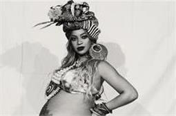 अफ्रीकन स्टाइल में 'Beyonce' ने लिया बेबी शॉवर,बैली पर बनाया हीना टैटू