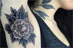 लेटेस्ट ट्रैंड में छाया Armpit Tattoos का फैशन
