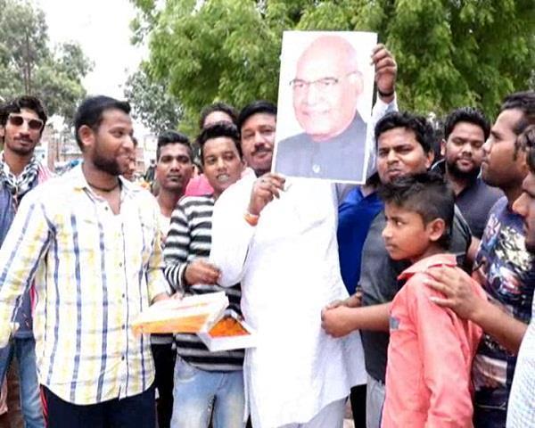 रामनाथ कोविंद को राष्ट्रपति पद का उम्मीदवार बनाये जाने से कानपुर में जश्न का माहौल