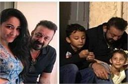 पत्नी और बच्चों के साथ वेकेशन एन्जॉय करते नजर आए Sanjay Dutt