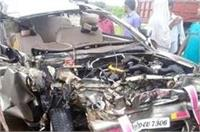 तेज रफ्तार कार की ट्रक से भीषण टक्कर, 7 घायल, 2 की हालत नाजुक