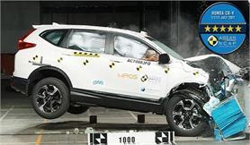 नई होंडा CR-V को क्रैश टेस्ट में मिली 5-स्टार रेटिंग