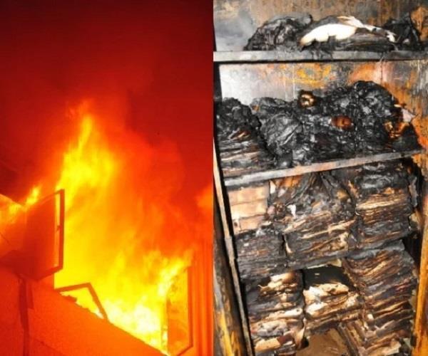 लखनऊः कृषि भवन में आग लगने के बाद हड़कंप, करोड़ों की महत्वपूर्ण फाइलें जलकर राख