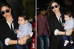 मॉम करीना के साथ एयरपोर्ट पर दिखाई दिए तैमूर, देखे तस्वीरें