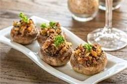 घर पर ही बनाएं आसान रैसिपी Vegan Stuffed Mushrooms