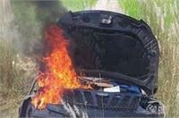 दर्दनाक हादसे में देवर-भाभी की मौत, गुस्साई भीड़ ने कार को किया आग के हवाले