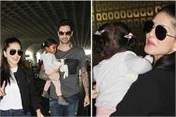 सनी-डेनियल के साथ एयरपोर्ट पर दिखीं बेटी निशा, देखिए तस्वीरें