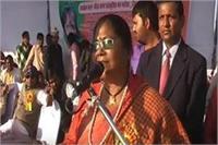 BJP भ्रष्टाचार मुक्त पार्टी, 4 वर्षों की सरकार में मंत्रियाें पर कोई दाग नहींः साध्वी निरंजना