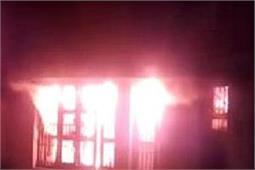 भारतीय स्टेट बैंक की शाखा में लगी भीषण आग, मचा हड़कंप