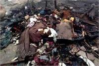दर्दनाक: झोपड़ी में आग लगने से एक ही परिवार के 4 लोगों की जिंदा जलकर मौत