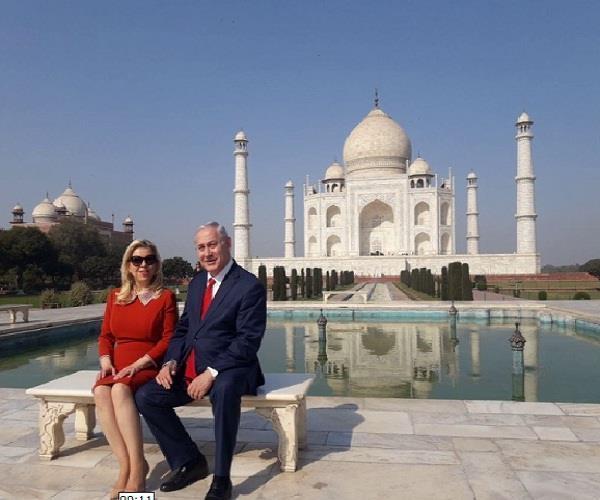 इजरायली PM ने पत्नी संग किया ताज का दीदार, विजिटर बुक में लिखा ये...