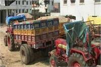 अवैध खनन को रोकने में पुलिस नाकाम, SDM ने पकड़ा बालू से लदा वाहन